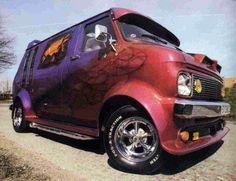 . Customised Vans, Custom Vans, Bedford Van, Dodge Van, Old School Vans, Vanz, Day Van, Panel Truck, Cool Vans