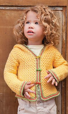 Crochet World Feb 2012: Signs of Spring Baby Hoodie pattern by Darlene Dale