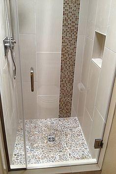 Vertical wall tile - basement bath                                                                                                                                                                                 More