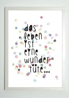 Originaldruck - Sprüche von Toechter-aus-Kalterer via DaWanda.com