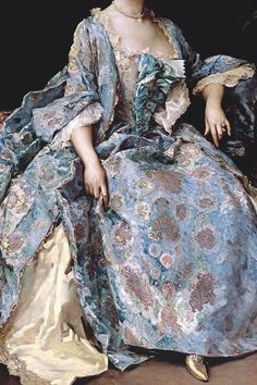 Portrait of a Lady by Raimundo de Madrazo y Garreta (Detail) Vestidos Vintage, Vintage Dresses, Vintage Outfits, Vintage Fashion, Historical Costume, Historical Clothing, Mode Renaissance, Rococo Fashion, 18th Century Fashion
