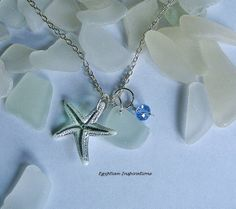Sea glass necklace. Beach sea glass by EgyptianInspirations, $23.99