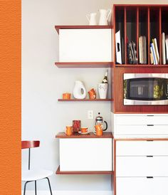 """via whorange (from """"samy and toby's mid-century makeover"""" on apartment therapy)"""