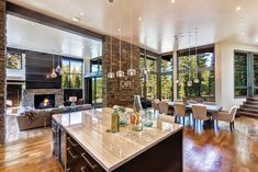 A Martis Camp Masterpiece – Tahoe Quarterly - Luxery Houses House Design, Farm House Living Room, House, House Interior, House Layouts, Master Bedroom Renovation, Home Kitchens, Great Rooms, Living Room Decor Inspiration