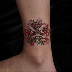 Koi Tattoo Sleeve, Oni Tattoo, Belle Tattoo, Inspiration Tattoos, Tattoo Ideas, Lion Dance, Japanese Tattoo Art, Foo Dog, Future Tattoos