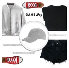 """""""60 Second Style: Game Day"""" by irena123 ❤ liked on Polyvore featuring Alexander Wang, adidas Originals, Converse, Topshop, gameday, polyvorecontest, polyvorefashion and 60secondstyle"""