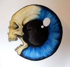 skull & eyeball (would make a wicked tattoo! j )