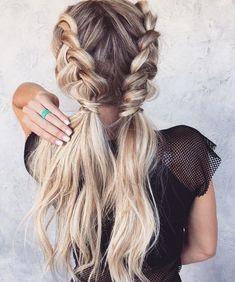 Braids,Double Dutch Braided hairstyle ideas,Double Dutch Braids,easy hairstyle for long hair