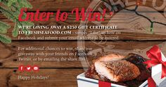 FreshSeafood.com is giving away $250 to shop their fresh seafood... IFTTT reddit giveaways freebies contests