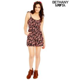 Floral Romper - Summer Bethany Mota Collection