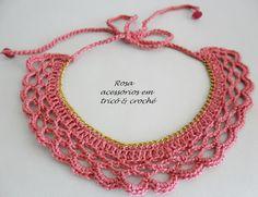 Rosa acessórios em tricô & crochê: Gargantilha coral crochet