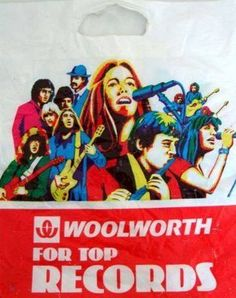 Woolworth's record bag: i loved getting record token from my Aunts Record Players, My Childhood Memories, Teenage Years, My Memory, The Good Old Days, Back In The Day, Vintage Ads, Vinyl Records, Album Covers