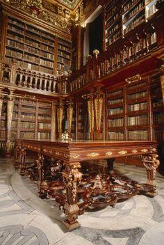Bibliothek der Universitaet Coimbra Zhuanina in Portugal