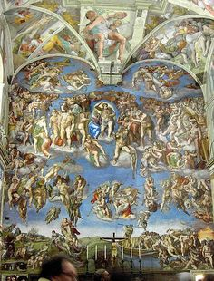 The Last Judgement by Michelangelo in the Sistine Chapel, The Vatican, Rome, Italy Renaissance Architecture, Art And Architecture, Italian Renaissance, Renaissance Art, Miguel Angel, Sistine Chapel Michelangelo, Art Ninja, Sistine Chapel Ceiling, Most Famous Artists