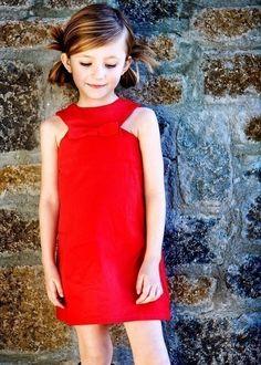 Retro Style Red Jewel Neckline dress by faithworks4u on Etsy, $38.00