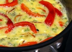 Caramelized Onion, Roasted Red Pepper & Broccoli Frittata