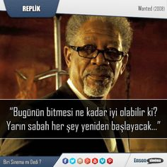Başrollerinde Morgan Freeman, Angelina Jolie ve James McAvoy bulunduğu 2008 yapım (Wanted) filminden. #replik #sinema #film #wanted #filmreplik #paylaş
