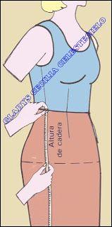 El Rincon De Celestecielo: Toma de medidas para falda y pantalón