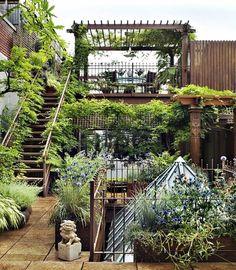 bepflanzte Terrasse Freien-Dachwohnung einrichten