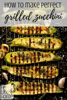 grilling recipes How to make perfect grilled zucchini and squash - This recipe is simple, quick, and easy. The BBQ grill makes this recipe and tips delicious! Use seasonings of your choice with garlic for the best grilled zucchini. Grilled Zucchini Squash, Grilled Zucchini Recipes, Zuchinni Recipes, Grilled Vegetables, Bbq Zucchini, How To Grill Zucchini, Best Vegetables To Grill, Kebabs, Zucchini