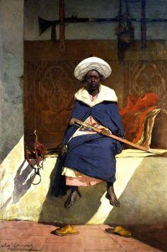 Le Caïd marocain Tahamy (1883).  une oeuvre de jean Joseph Benjamin Constant peintre remis en lumière à Toulouse jusqu'au 4 Janvier