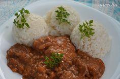 Kuracia pečeň podľa @Terinka55 (fotorecept) - recept | Varecha.sk Chana Masala, Curry, Ethnic Recipes, Congo, Food, Red Peppers, Curries, Essen, Meals