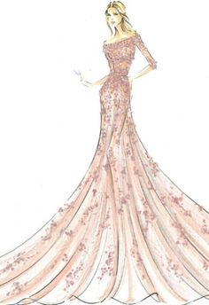 Modern fairytale princess style by renowned designers: Aurora from Sleeping Beauty by Elie Saab