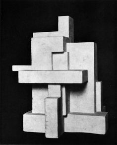 GEORGES VANTONGERLOO, CONSTRUCTION IN AN INSCRIBED AND CIRCUMSCRIBED SQUARE OF A CIRCLE, 1924