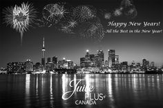 Happy New Years! Juice Plus+ Canada would like to wish you all the best in the new year! Juice Plus, Happy New Year, New York Skyline, Happiness, Canada, Success, Good Things, Holidays, Health