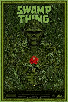 """Headline: """"B 'Swamp Thing' Poster"""" (Tuesday, March 13, 2012) Image credit: Swamp Thing by Florian Bertmer for Mondo ♛ Once Upon A Blog... fairy tale news ♛"""