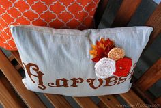 fall painted pillows