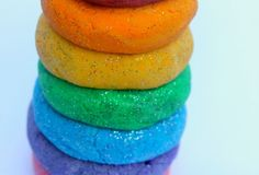 rainbow glitter salt dough more salt dough play dough rainbow glitter ...