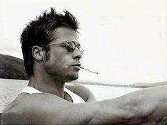 Brad Pitt: Fight Club, Legends of the Fall, 12 Monkeys, A River Runs… Brad Pitt Troy, Brad Pitt Hair, Jennifer Aniston, Fight Club, Brad Pitt Biography, Angelina Jolie, Bradd Pitt, Gorgeous Men, Beautiful People