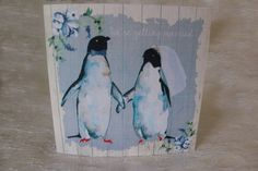 Penguin love Penguin Love, Personalized Wedding, Wedding Stationery, Penguins, Getting Married, Painting, Art, Art Background, Painting Art