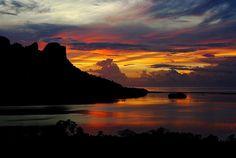 Sokehs Rock Sunset