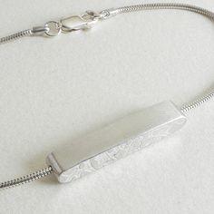 Embossed Silver Bar Bracelet www.notonthehighstreet.com/papermetal