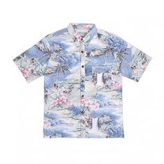 IRON AND RESIN PACIFIC ROAD SHIRT VINTAGE - BLUE