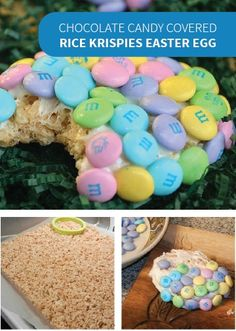 These Easter eggs have a crunchy chocolate outside and a chewy Rice Krispies Treat inside for a new and exciting addition to your childrens' holiday baskets!