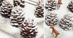 Tieto zasnežené čokoládové šiškyna Vašom stole nesmú rozhodne chýbať!Vianočná dekorácia na zjedenie, ktorú musíte skúsiť pripraviť aj Vy! Recept postup Cooking, Food, Kitchen, Essen, Meals, Yemek, Brewing, Cuisine, Cook