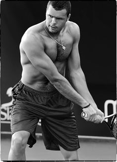 """Jo-Willie!!!! ❤  Just had to post this """"international ripped Brother"""" who is not onl  a great tennis player, but wonderful to look out. Yes, Jo- Willie Songa!!!!!!"""