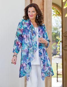 Kasbah+purple/pink+voile+bright+waterfall+jacket