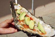 Oyster Huaraches: Giant Oysters, Baja Ensenada, Mexico