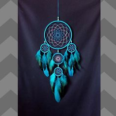 Dreamcatcher large, Dream catcher turquoise , indian talisman, bedroom decor, blue dreamcatcher by MagicNursery on Etsy https://www.etsy.com/listing/517666139/dreamcatcher-large-dream-catcher