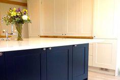 An innova norton bespoke kitchen httpdiy kitchens from diy kitchens navy minerva oak tops and light grey plus white shaker real kitchens solutioingenieria Choice Image