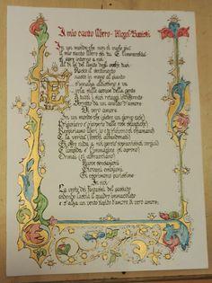 Il mio canto libero-song by Mogol/Battisti Medieval Books, Medieval Manuscript, Medieval Art, Illuminated Letters, Illuminated Manuscript, Scotland Wallpaper, Gothic Script, Illumination Art, Medieval Wedding