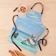 """""""Ground Swell Oil Painting by Edward Hopper"""" Apron by podartist   Redbubble Custom Aprons, Edward Hopper, American Artists, Oil Painting On Canvas, Artwork, Blue, Design, Personalized Aprons"""