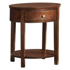 Inspire Q 1 Drawer Oval Accent Table - 565A16