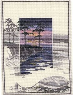 Pinetree Bay - Sunsets - Cross Stitch Kit by Derwentwater Designs