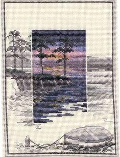 Pinetree Bay - Sunsets - Cross Stitch Kit by Derwentwater Designs