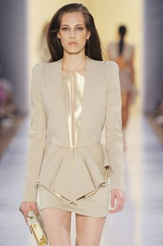 Metallic Trimmed Mini Dress